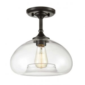 Contemporary Glass Globe Ceiling Lights Flush Mount Ceiling Lighting