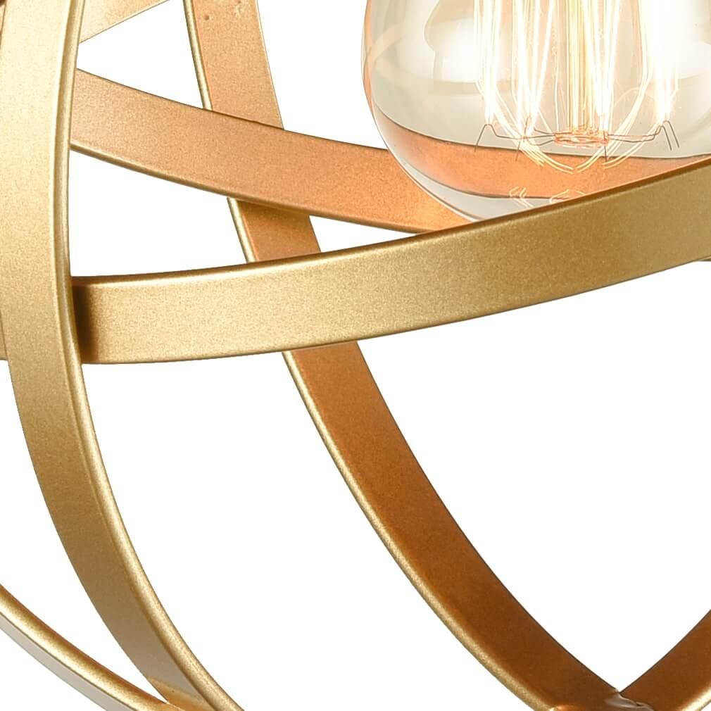 Industrial Metal Globe Flush Mount Kitchen Ceiling Lights Brass