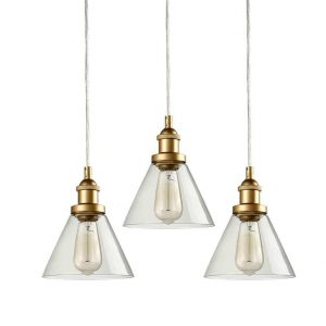 Mini Glass Pendant Lights Brass Kitchen Island Pendant Lighting 3 Pack