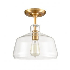 Modern Farmhouse Brass Glass Ceiling Lights Semi Flush Mount