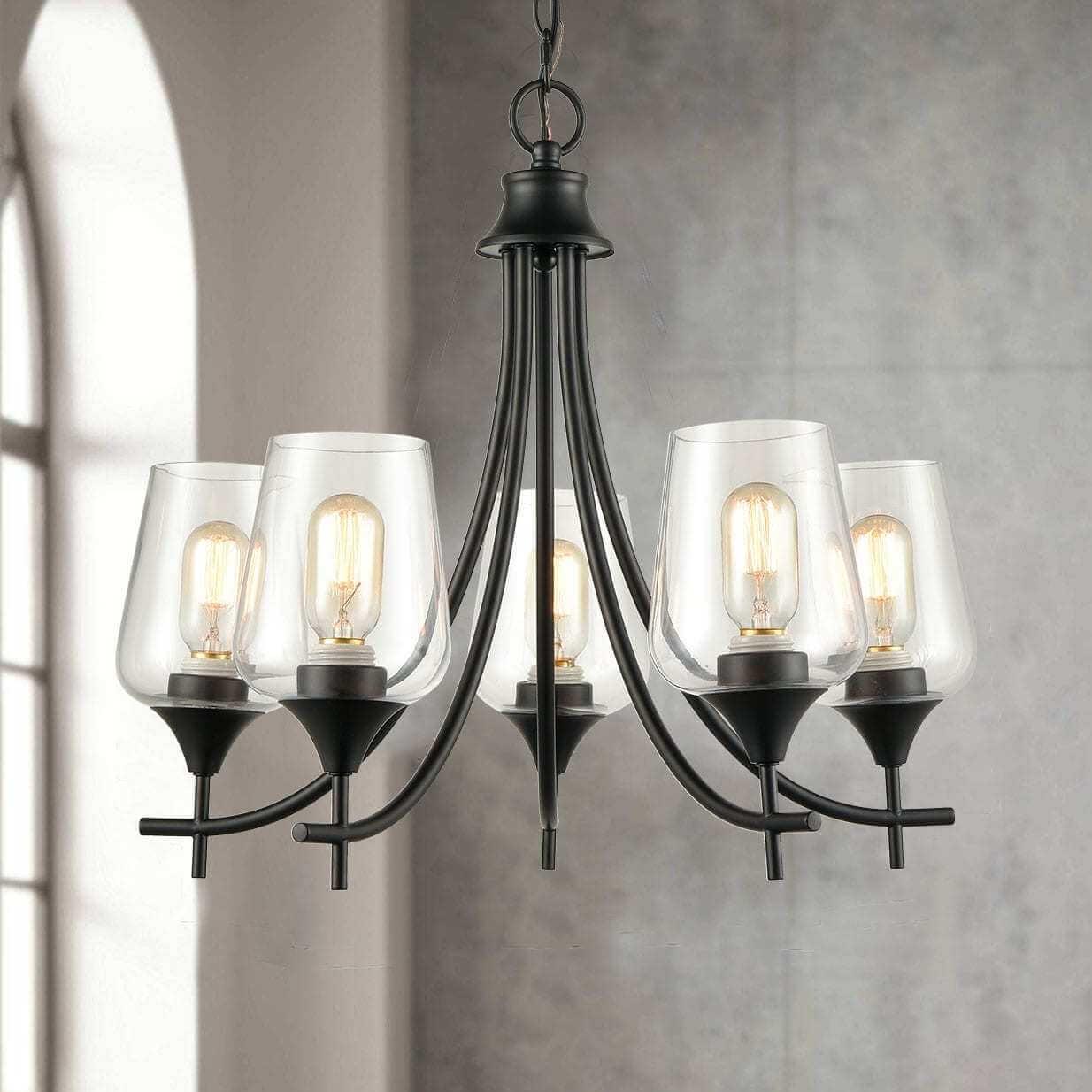 Modern Glass Semi-flush Mount Ceiling Light With Oil Rubbed Bronze