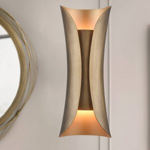 Modern Wall Sconce 2-Light Wall Lamp Brass Wall Mounted Wall Lights