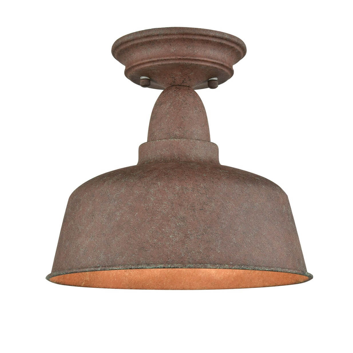 Rustic Metal Barn Ceiling Light Retro Semi Flush Mount Ceiling Lighting