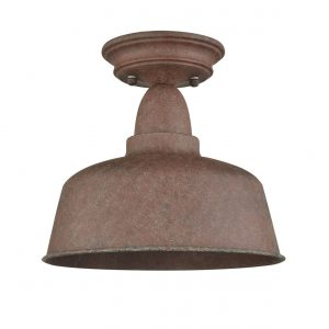 Rustic Metal Barn Ceiling Light Retro Semi Flush Mount Ceiling Lighting