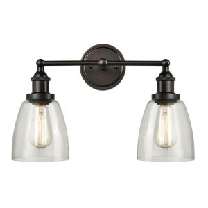 Vintage Glass Wall Sconces Bathroom Vanity Lighting, Handcrafted ORB Finish