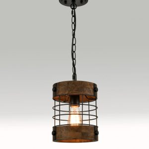 Kitchen Farmhouse Wood Hanging Pendant Lighting Fixture