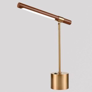 Brushed Gold LED Desk Lamp for Study Desk