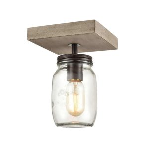 Farmhouse Mason Jar Flush Mount Ceiling Lights Glass Jar Light Fixture