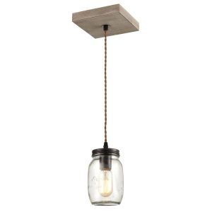 Farmhouse Mason Jar Glass Pendant Lights Wood Mini Ceiling Lights