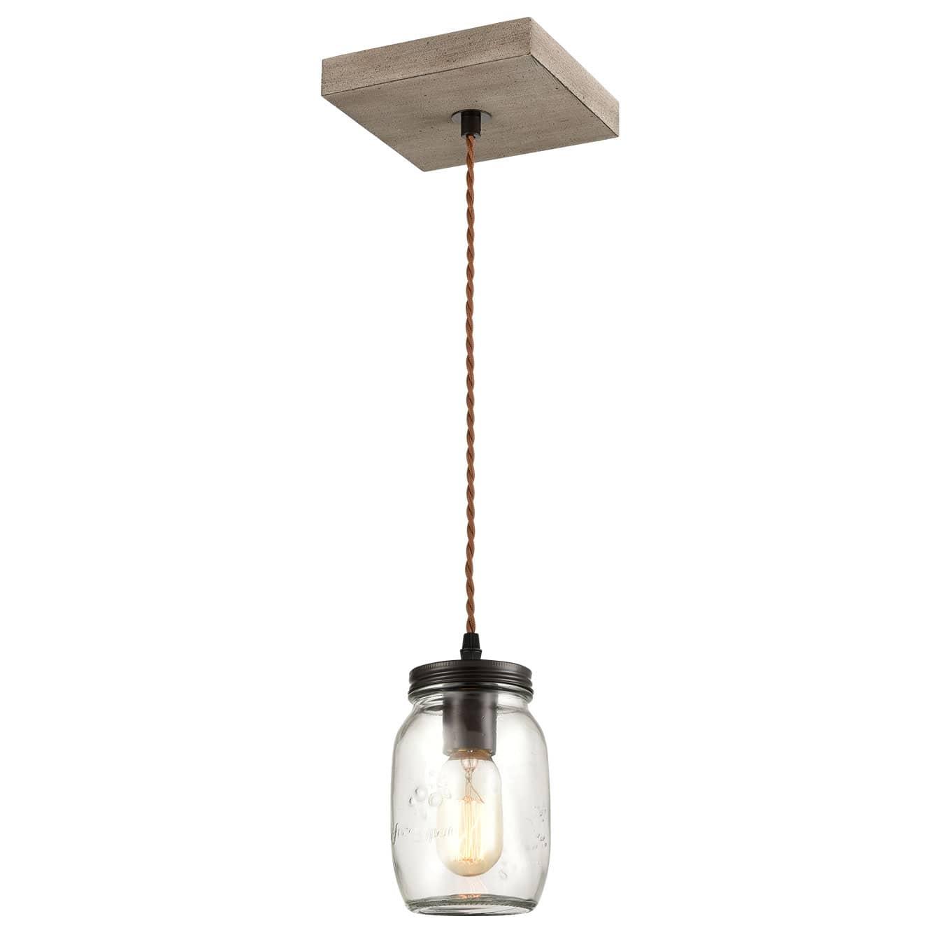 Farmhouse Mason Jar Glass Pendant Lights Wood Mini Ceiling Lights