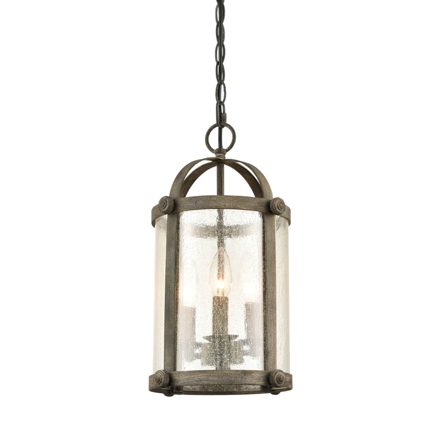 Industrial Pendant Light Fixture Seeded Glass Kitchen Island Brushed Nickel NEW