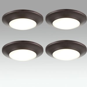 4 Pack Modern LED Disk Light Flush Mount Ceiling Light Warm White