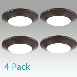4-Pack Modern Small LED Flush Mount Ceiling Light 4000K 8W 5.9inch