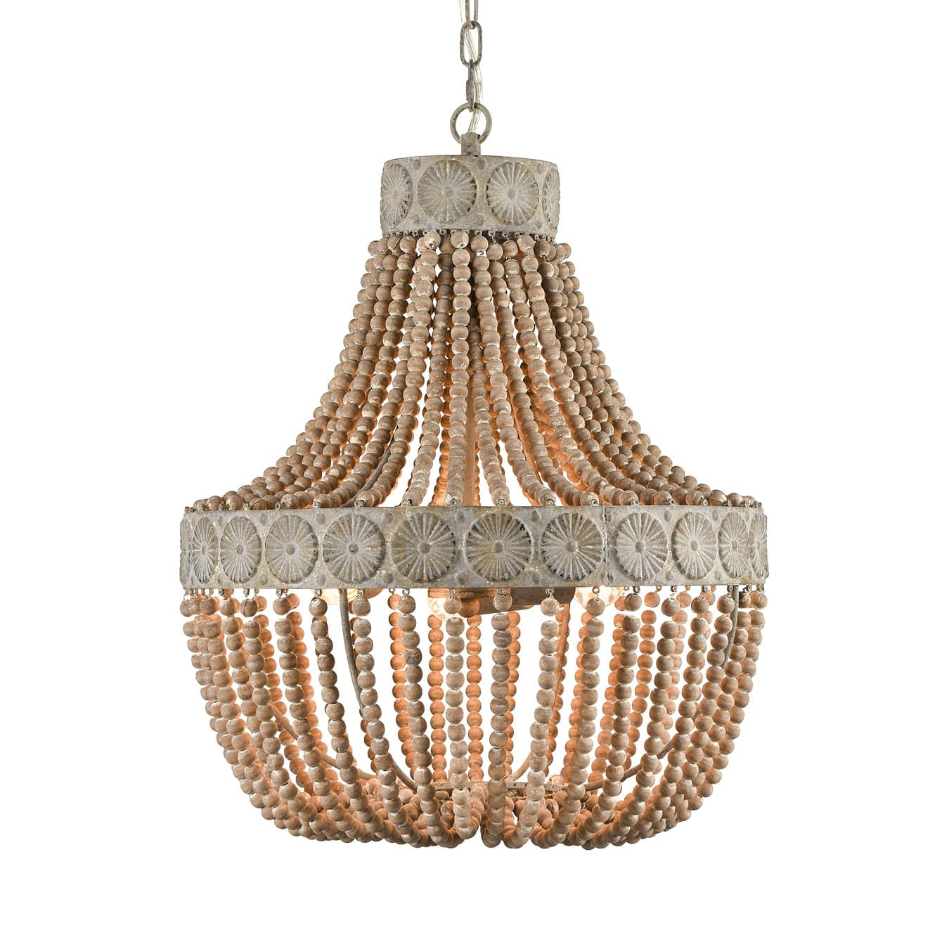 Farmhouse Wood Bead Chandeliers Large Dining Room Chandelier Natural Wood Bead