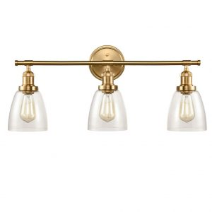 Industrial Bathroom Brass Wall Sconces Clear Wall Sconces