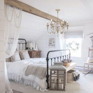 six light farmhouse wood chandelier