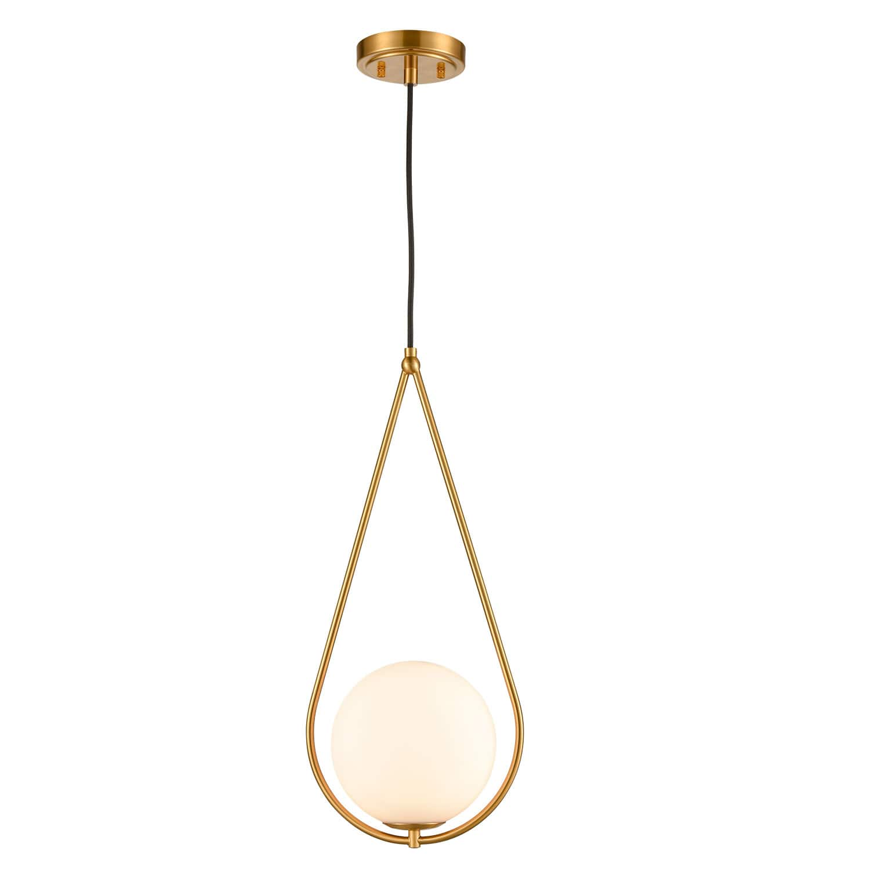 Industrial Brass Globe Glass Pendant Lights Art Decor Pendant Lighting