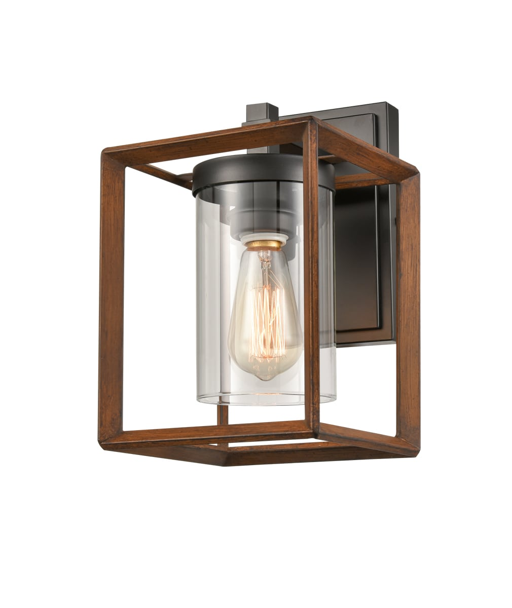 Lantern Cage Wall Sconce with Clear Glass Shade