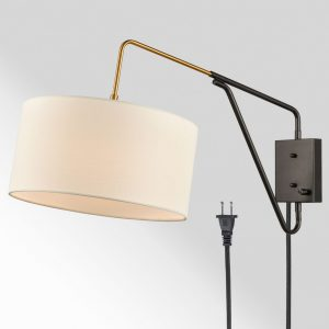 Modern Bedroom Adjustable Wall Lamp Plug-in Wall Sconce 1-Pack