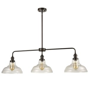 Modern Large Glass Island Lighting Oil Rubbed Bronze Pendant Lighting