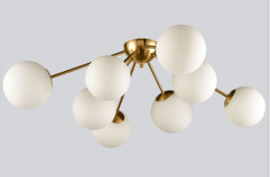 gold mid century ceiling light