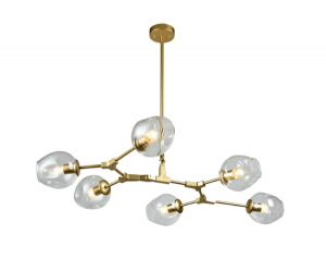 large gold ax chandelier