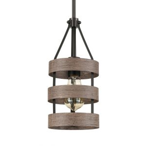 Farmhouse Metal Cage Pendant Light for Kitchen Dining Room