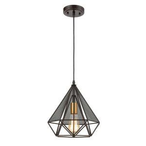 Loft Geometric Metal Cage Pendant Lights Diamond Shape Hanging Light