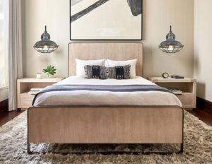 1-rustic-wall light bedroom
