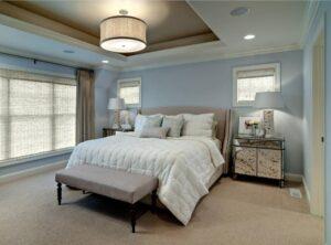 2modern bedroom semi flushmount ceiling light drum-min