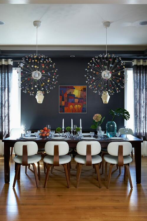 3dining room colorful lights
