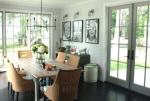 5-rustic wall light dining room
