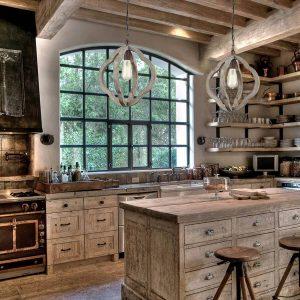 7rustic-kitchen-Distressed-Wooden-Globe-Pendant-Light