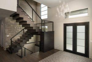 1modern chandelier hallway