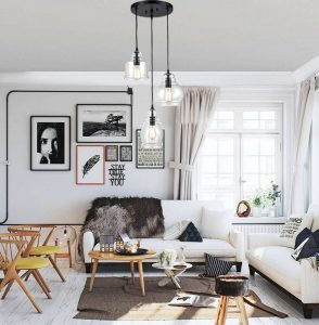 2living room-modern-Clear-Glass-chandelier