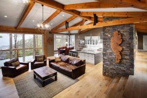2rustic living room round