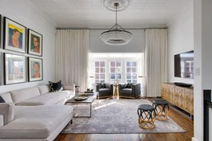 5modern chandelier living room