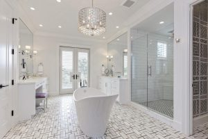 6bathroom chandelier