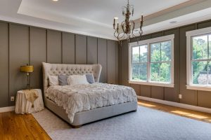 5wood distressed brown finish bedroom