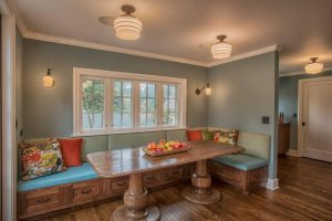 4ceiling striped marigold dining room