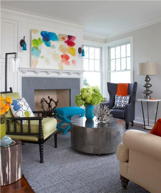 5modern blue tulip glass floral accent