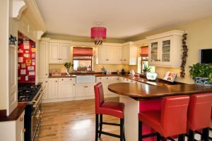 7drum chandelier kitchen red