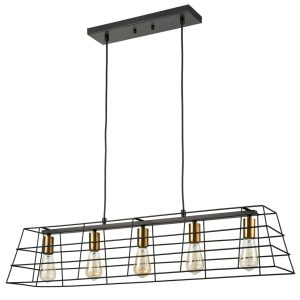 Farmhouse Kitchen Island Pendant Lighting Black Brass Pendant