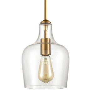 Modern Brass Pendant Light Glass Rod-Hung Pendant for Kitchen