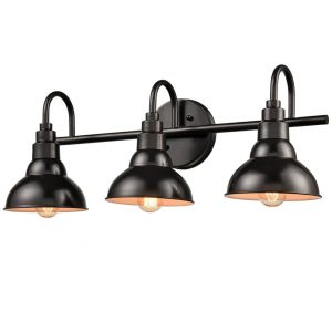 Farmhouse Bath Vanity Wall Light 3-Light Barn Sconce Oil Rubbed Bronze