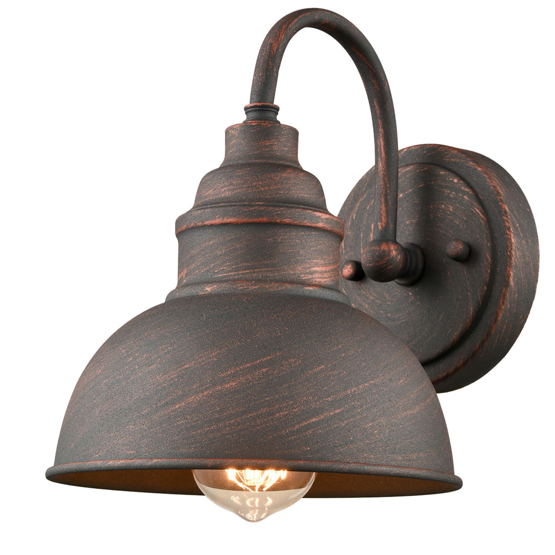 Farmhouse IndoorOutdoor Wall Sconce Metal Barn Light