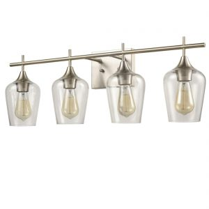 Industrial Bathroom Vanity Wall Light 4-Light Sconces Brushed Nickel