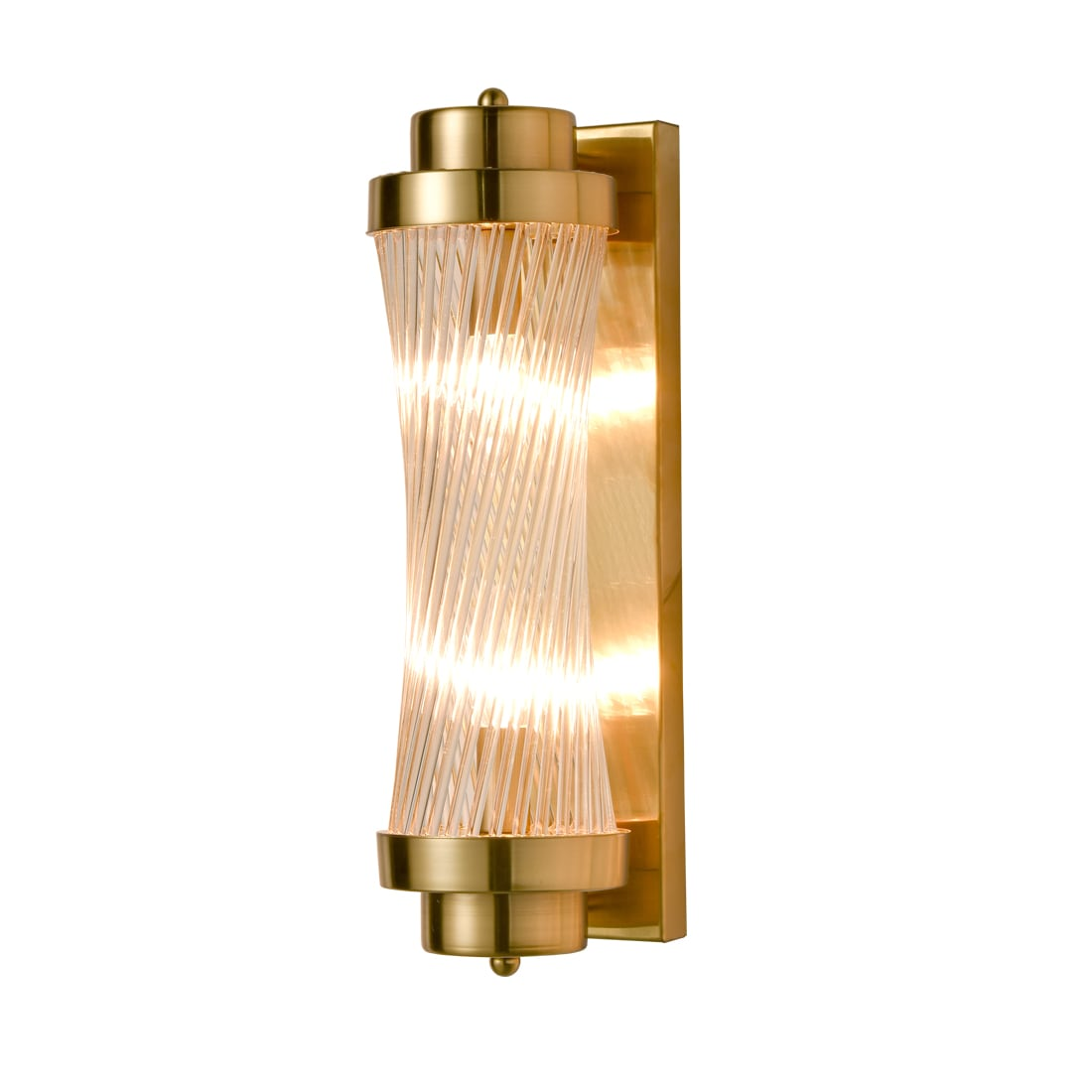 Modern Brass Wall Sconce 2-Light Bathroom Vanity Light