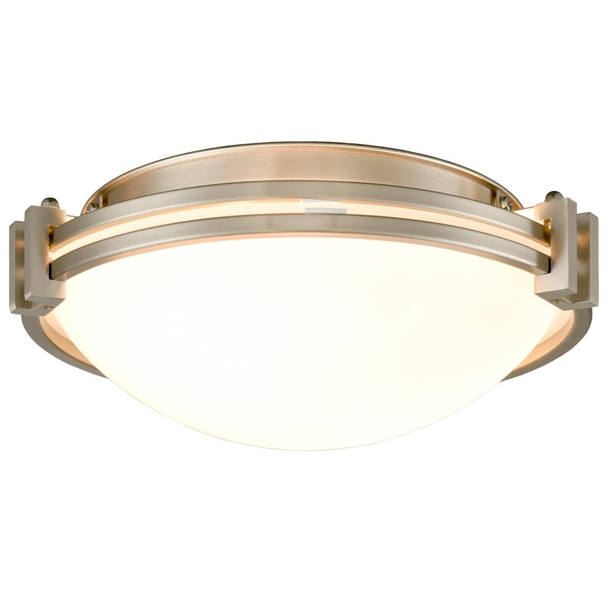12 Inches Flush Mount Ceiling Light Fixture Satin Nickel Finish