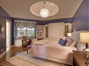 5globe chandelier bedroom1